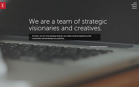 Eden Creative web and graphic design agency website