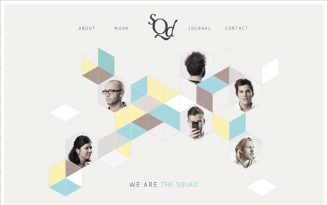 The Squad web and graphic design agency website