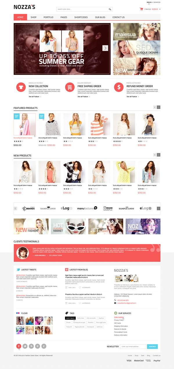 FashionZozza - WooCommerce WordPress Theme