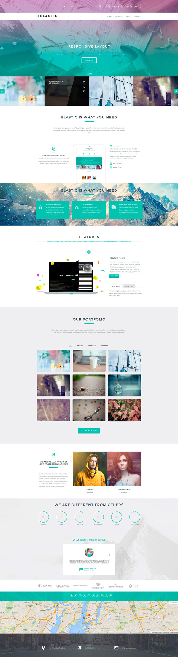 Elastic - WordPress Theme and Page Builder