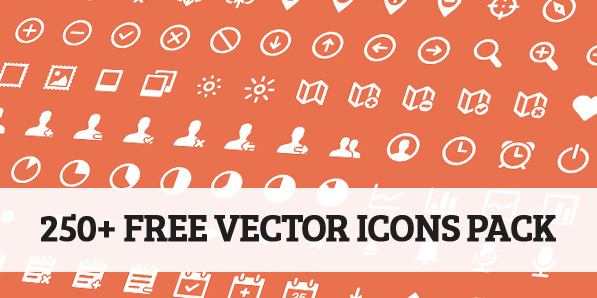 250+ Beautiful Free Vector Icons Pack