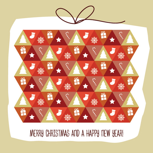 Present Pattern Vector Graphic