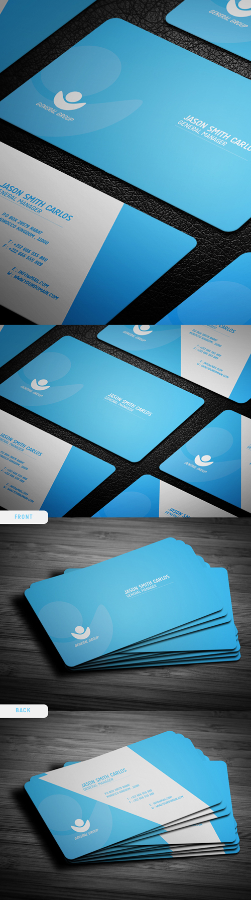 business cards template design - 12