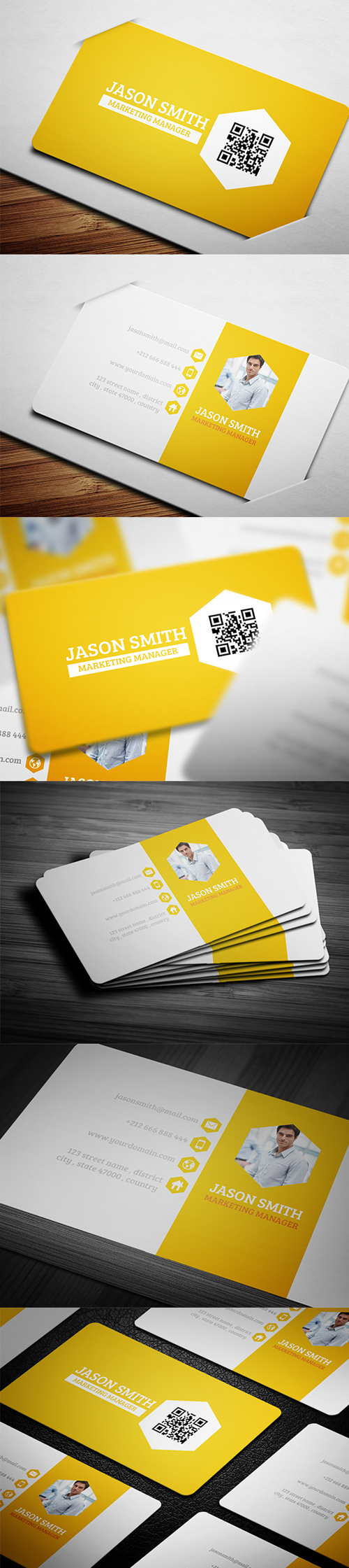 business cards template design - 4