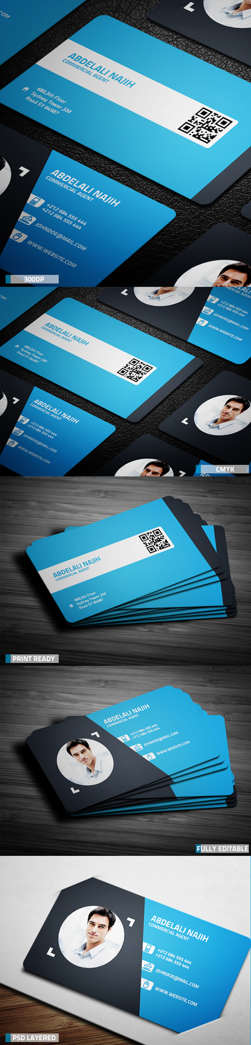 business cards template design - 9
