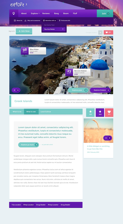 Explore - Free PSD Template
