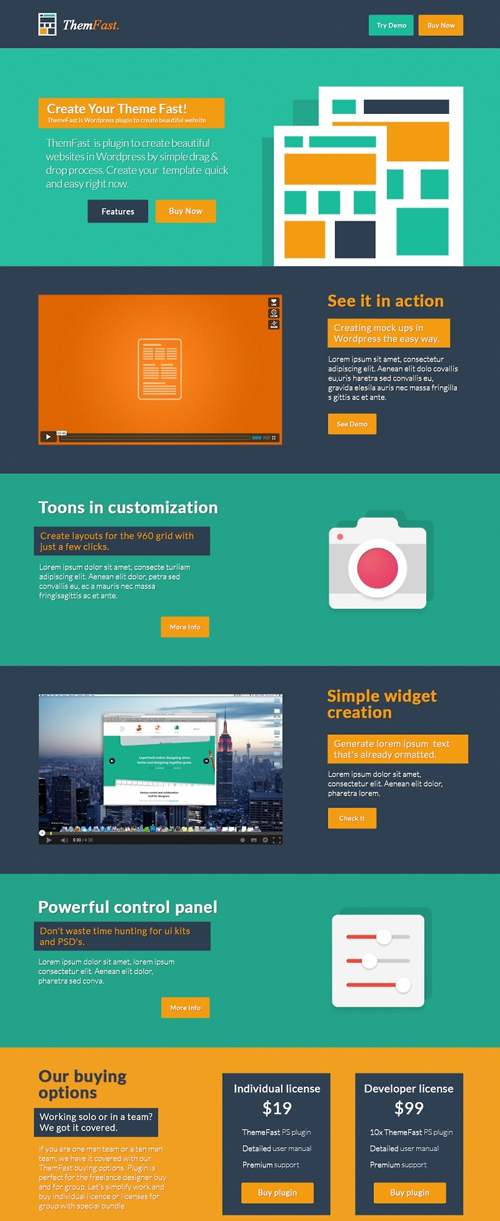 ThemFast - Free PSD Template