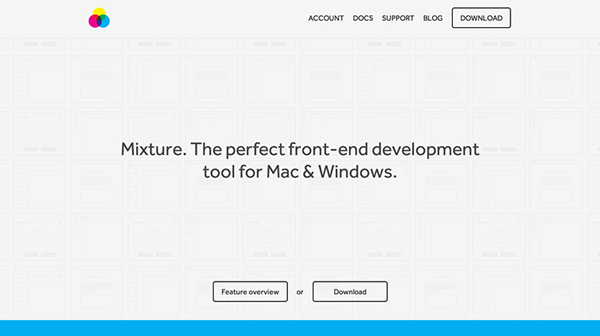 Mixture Flat Website Design