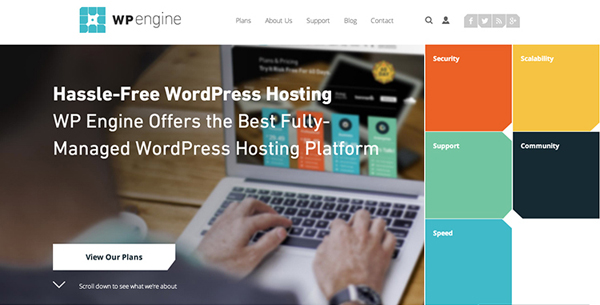 WPEngine Flat Website Design