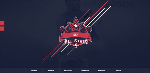 NBAllstats Flat Website Design