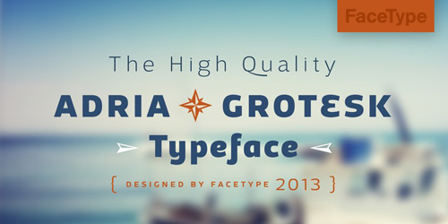 Adria Grotesk free fonts of year 2013
