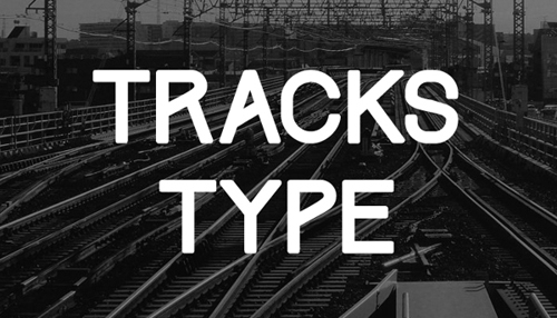Tracks Type free fonts of year 2013