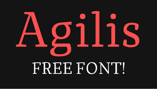 Agilis free fonts of year 2013