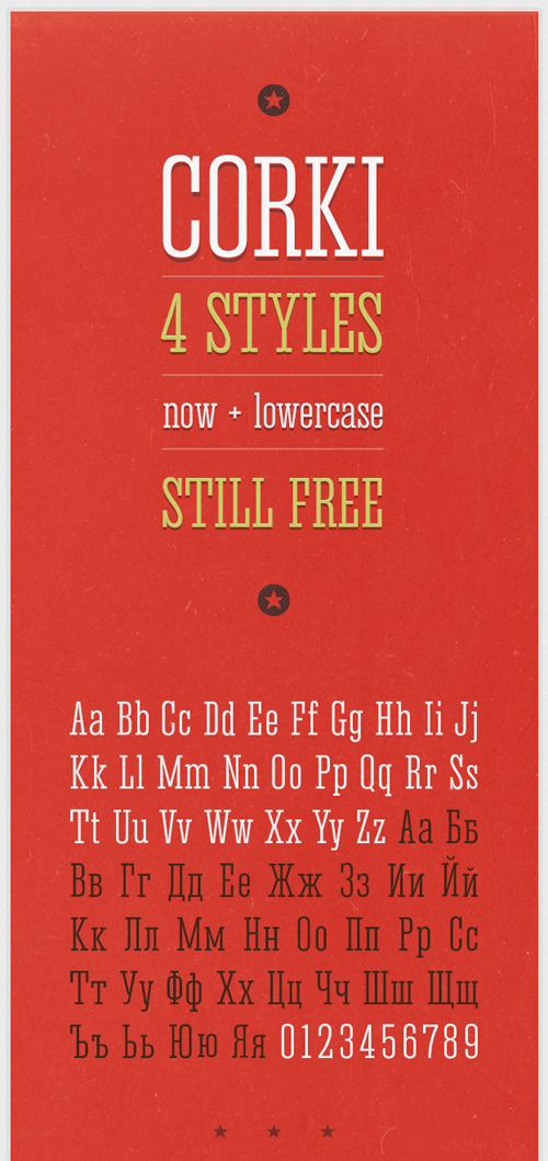 Corki V.02 free fonts of year 2013