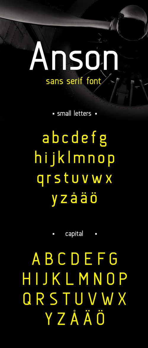 Anson free fonts of year 2013
