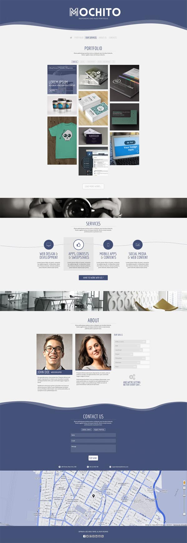 Mochito - One Page Portfolio Joomla template