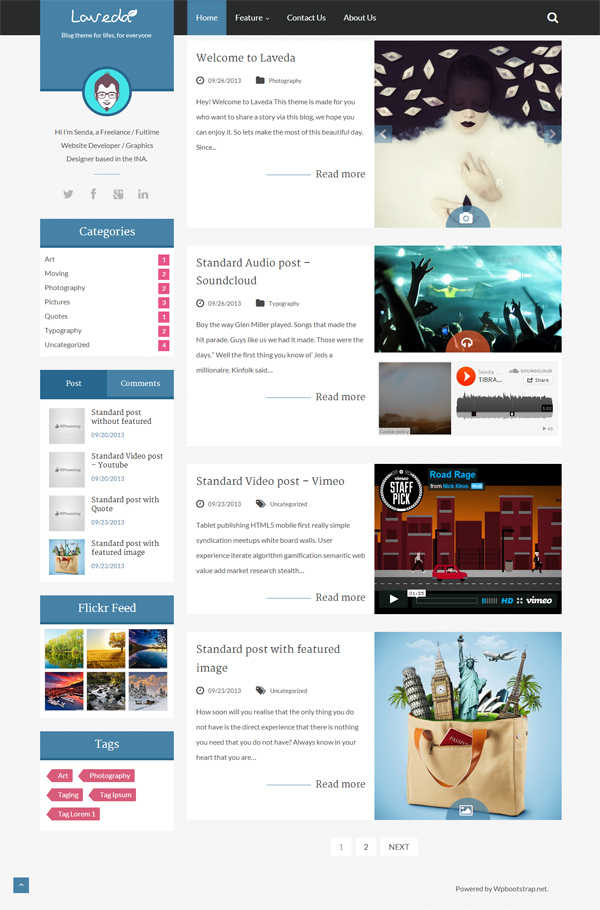 Laveda - Responsive WordPress Theme For Blog Magazine