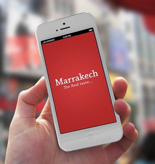 Marrakech Phone Restaurant Mobile App UI UX Design for Inspiration