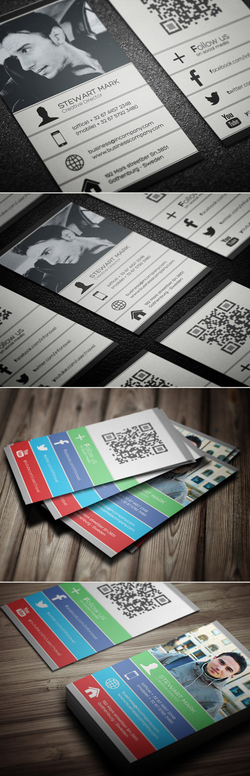 Social Business Cards Design-16