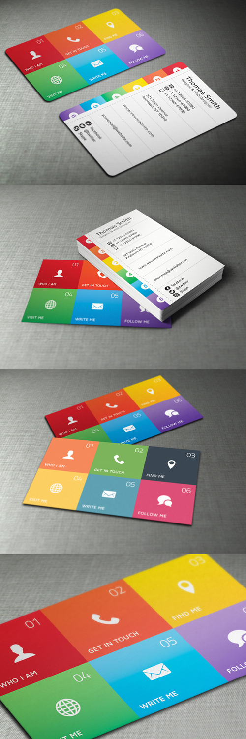 Modern and Unique Business Cards Design Design