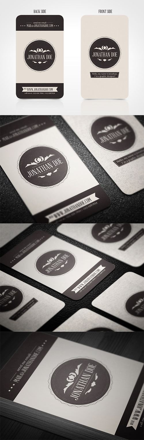 Vintage Business Cards Design-7