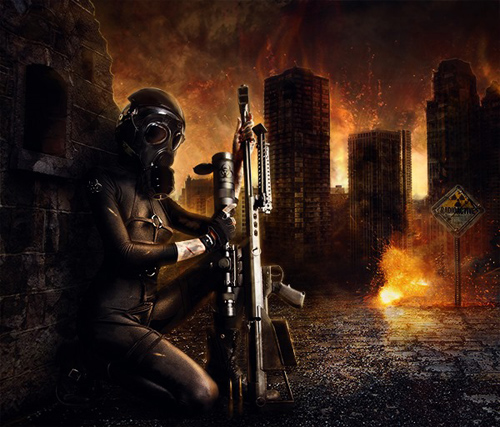 Create a Fiery City War Scene in Photoshop