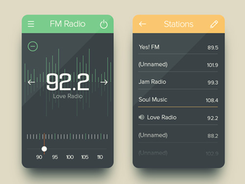 FM Radio UI Design Concepts to Boost User Experience