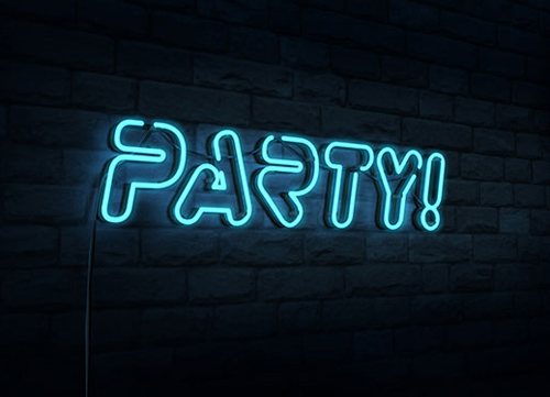 Create a 3D Neon Night Club Sign in Photoshop CS6