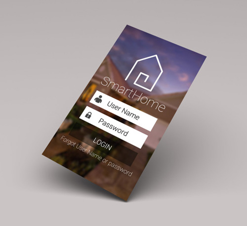 Smarthome Login Screen UI Design Concepts to Boost User Experience