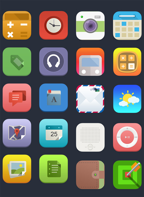 iOS 7 Flat Icons - App Icons