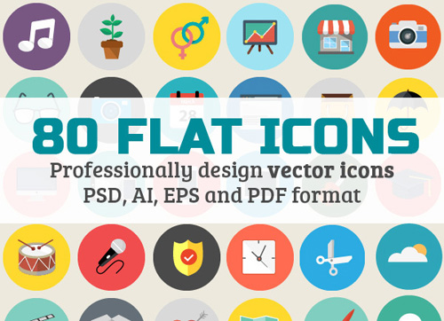 80 Fully Scalable Icons Set
