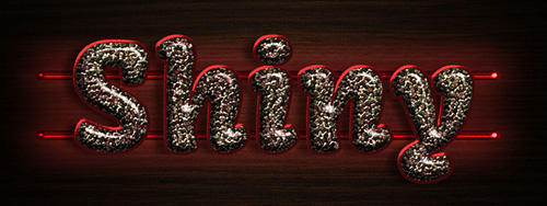 Shiny Mosaic Text Effect