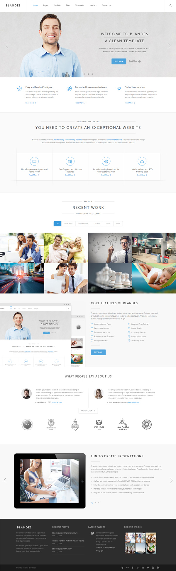 Blandes Multipurpose Responsive WordPress Theme