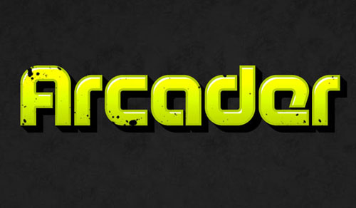 How to Create Arcade Text Effect in Photoshop