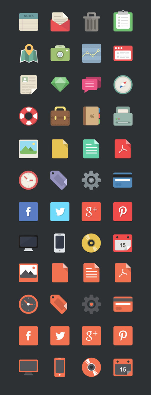 60 Absolutely Free Flat Icon Sets