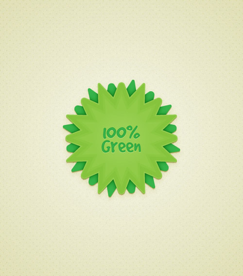 Create a Green Web Badge Using Live Corners in Illustrator