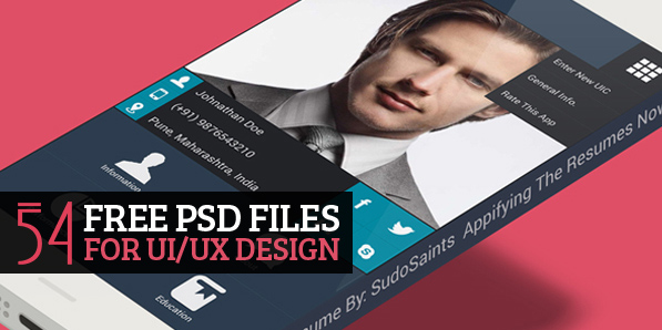 54 New Free PSD Files for UI Design