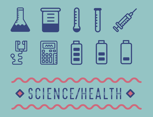 Science and Health Pictogram