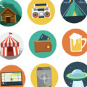 Post Thumbnail of Beautiful Free Flat Icons Set
