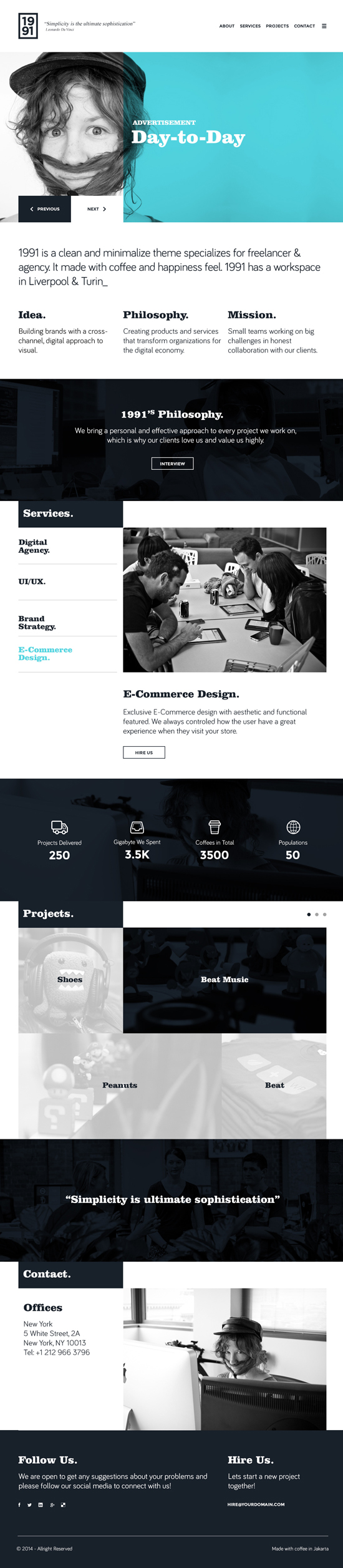 1991 - Onepage PSD Template