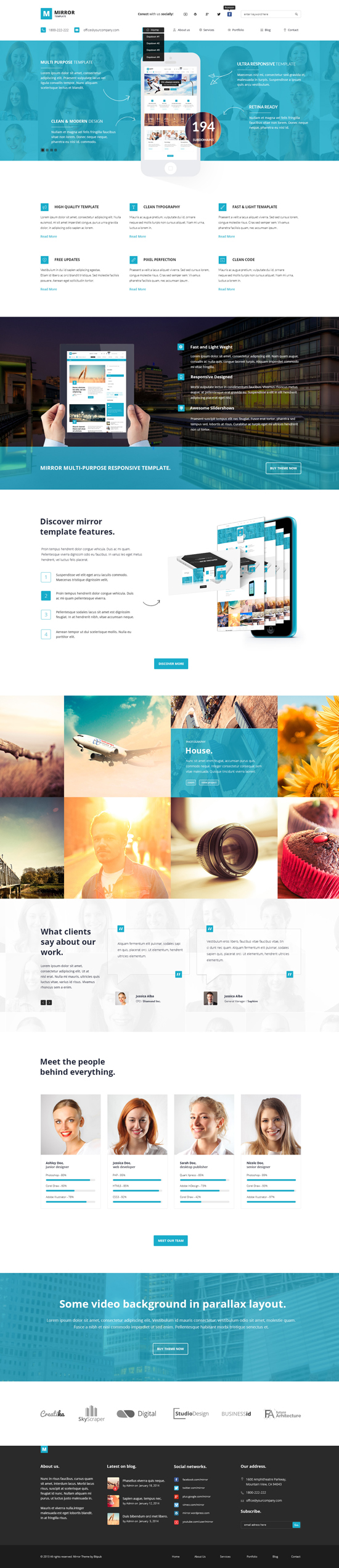 MIRROR - Multipurpose Business PSD Template