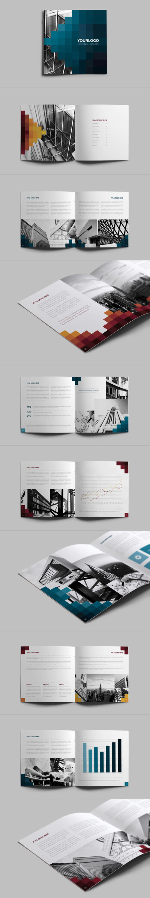 Pixels Square Brochure