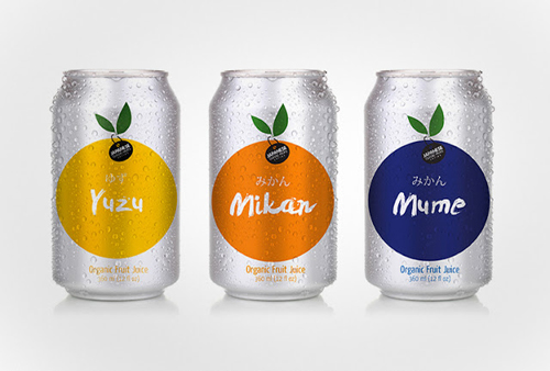 Juice of Classic Japanese Fruits Packaging Design