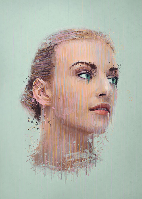 Manipulate a Portrait Photo to Create a Splatter Paint Effect