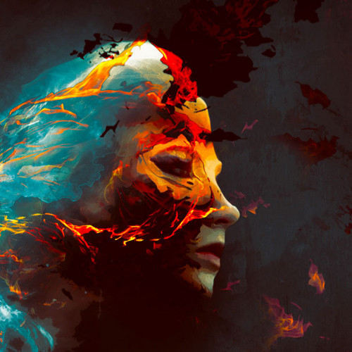 Create Colourful Fiery Portrait in Photoshop