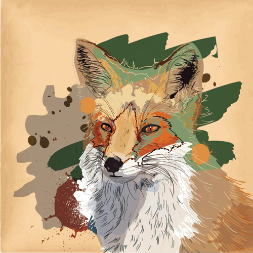 Brown Fox Vector Graphic - 22