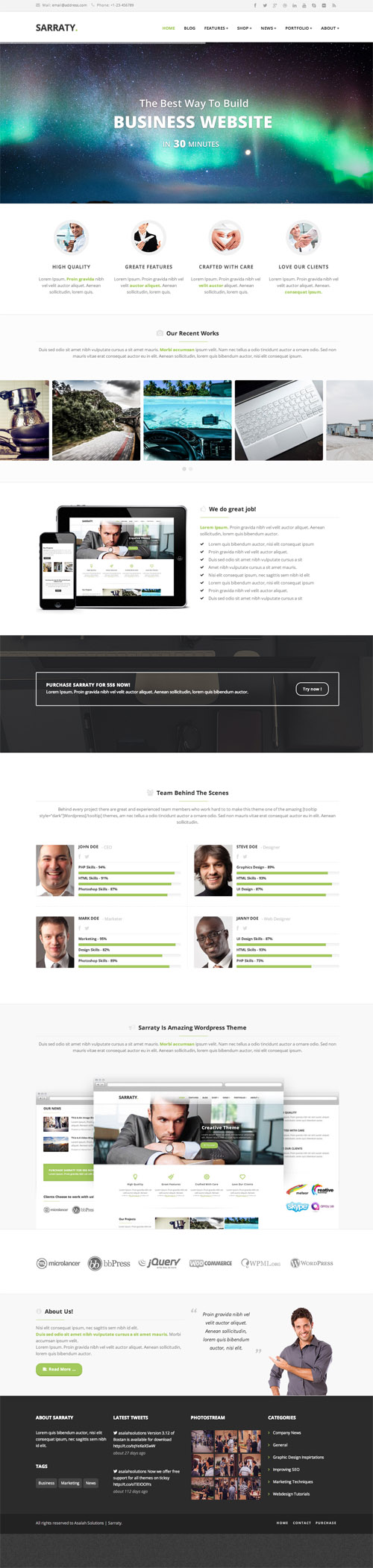 Sarraty - Retina Responsive Multi-Purpose Theme