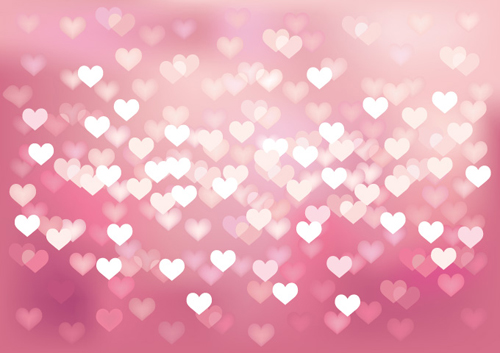 Heart Bokeh Background Vector - 33