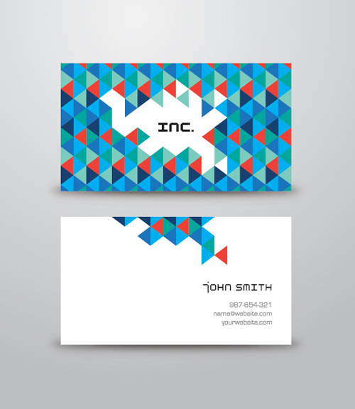 Triangular Business Card Vector Graphic - 35