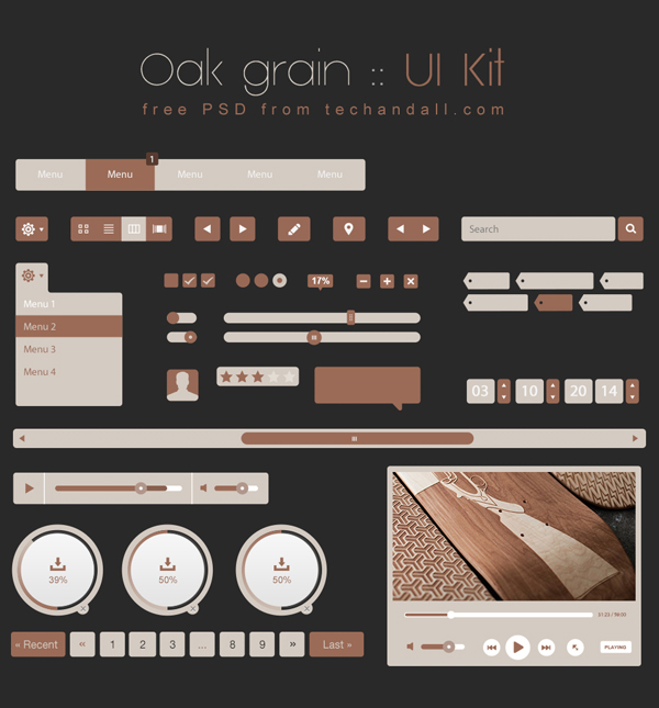 Oak Grain UI Kit